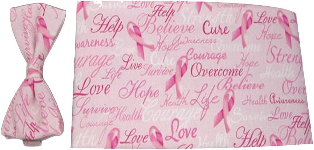 Find A Cure Breast Cancer Bow Tie and Cummerbund Set