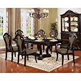 Furniture of America Katuy 7-piece Wood Extendable Dining Set in Walnut