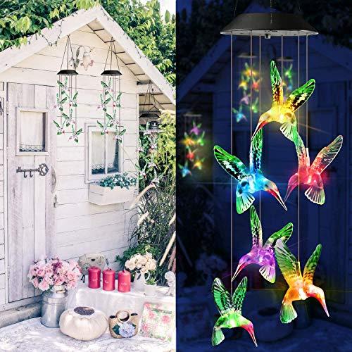 Solarleuchten Windspiele für Außen und den Innenbereich, mit Farbwechsel Solar LED Schmetterling Windspiele Beleuchtung,Hängeleuchte Deko für Rasen, Hof, Zuhause, Party, Festival, Dekoration