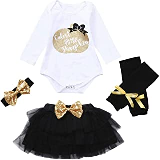 Baby Girl My 1st Halloween Outfit Costumes Romper Tutu Skirt Warmer Legs Headband 4pc Infant Newborn Party Clothes