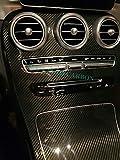 MAX AUTO CARBON 100% Echt Carbon Abdeckung Mittelkonsole Armaturenverkleidung Innenausstattung passend für C Klasse W205 C205 S205 T205 GLC Klasse X253 C253