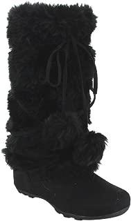 Best black faux fur pom pom boots Reviews