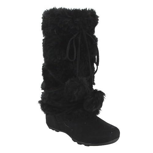 6a0f70de524d De Blossom Collection Women s Mid Calf Faux Fur Boots