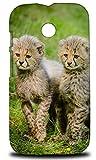 African Cheetah Animal 6 Hard Phone Case Cover for Motorola Moto E (1st Generation)