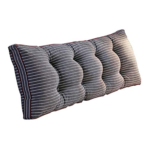 Reading Pillows Removable Bedside back cushions,Sofa bed Upholstered Headboard,Soft Tatami Double Large Lumbar Support Cushion Lumbar Pillows (Size : 120x50x20 cm)
