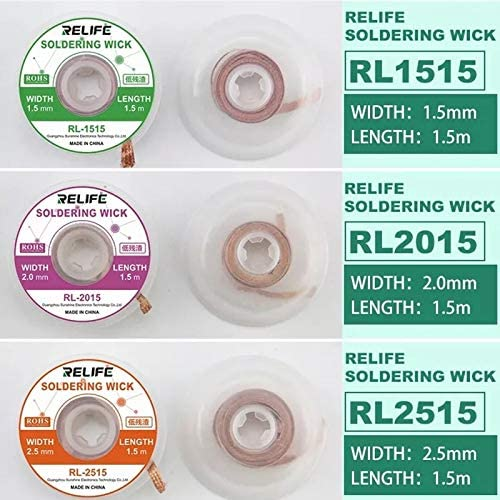 Jammas 2pcs Very popular Lot 1.5M Solder Wire Remover 2 Low price 2.5 Secur 3 3.5mm 1.5