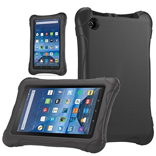 "Fire 7 2015 Case, Cellaria [Kids Case] - [Shockproof][Drop Protection][Heavy Duty] Kids Children EVA Armor Box Case With Handle For Amazon Fire 7 Tablet (will only fit Fire 7"" 2015 release), Black"