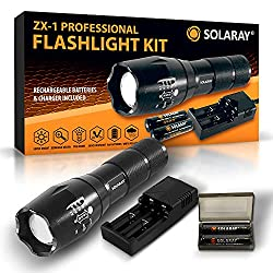 SOLARAY Handheld LED Tactical Flashlight