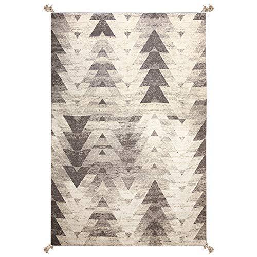 Jumr Home Designer Teppich Modern Handgestrickter Wollteppich Bunt Wohnzimmer Schlafzimmer Küche Haushalt Wohnen Wohnaccessoires Deko,160 * 230cm