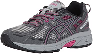 ASICS Women's Gel-Venture 6 Running-Shoes,Carbon/Black/Pink Peacock,10 Medium US