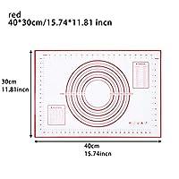 XHYRB ベーキングマット食品グレードシリコーンノンスティックベーキングマットは、パッドフォンダンペストリー生地高温の調理道具、余分なラーグでオーブン ケーキデコレーションデザートモールド (Color : 40x30cm red)