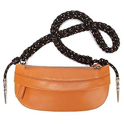Amazon - 65% Off on Women Fashion Small PU Leather Waist Pack Braided Knot Strap Trendy Chest