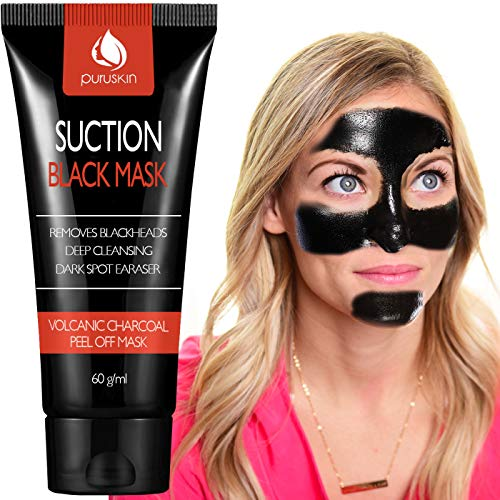 Best Charcoal Peel Off Mask for Men & Women, Blackhead Remover, Purifying Suction Black Face Masks for Deep Cleansing, Exfoliating, Acne Treatment, Oil-Control, Shrinks & Cleans Pores