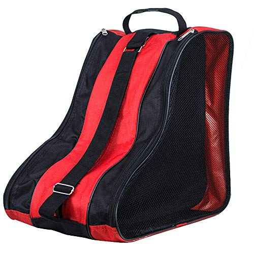 YOFASEN Bolsa para Patines Unisex - Patines de Hielo Ice Skate Bag Mochila Patines en Linea Adulto Niños Rojo