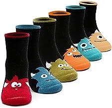 Toddler Boys Wool Socks Kids Winter Warm Socks Thermal Crew Socks 6 Pack 3t-4t/4t-5t
