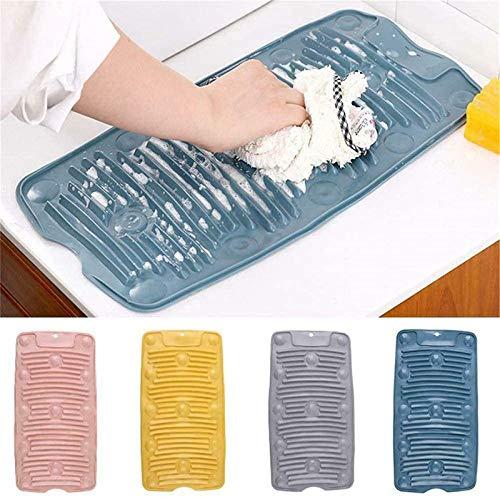 Zhengbenchang Tabla de Lavar de Plástico Acoplable Nueva, Tabla de Lavar para Lavar Ropa Lavabo Grande, Mini Tabla de Lavar de Silicona Portátil, Tabla de Lavar Plegable (Gris)