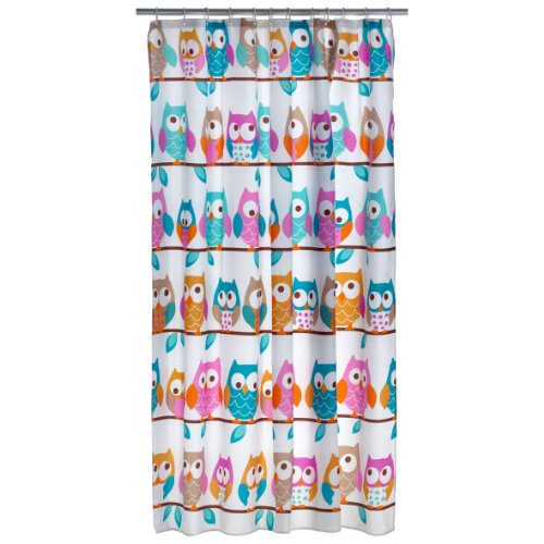 Duschvorhang 180 x 200 cm Eule Polyester