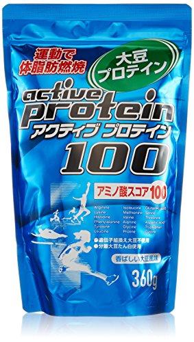 ORIHIRO(オリヒロ) オリヒロ アクティブプロテイン100 大豆風味 ソイプロテイン 360g 青