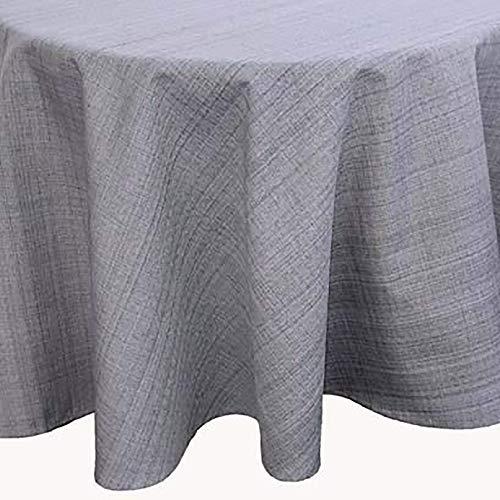 Kamaca Nappe d'extérieur pour table de jardin - La couverture textile parfaite pour l'intérieur et l'extérieur - Résistante aux taches et aux intempéries - Infroissable (gris - chiné, nappe ronde de 145 cm)