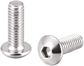 ZCHXD M4x12mm Machine Screws Hex Socket Round Head Screw 304 Stainless Steel Fasteners Bolts 20pcs