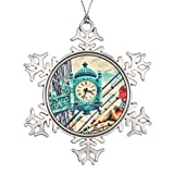 None-Brands Marshall Fields - Reloj con forma de copo de nieve