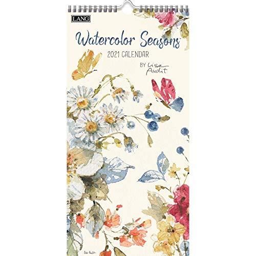 LANG Watercolor Seasons 2021 Vertical Wall Calendar (21991079144)