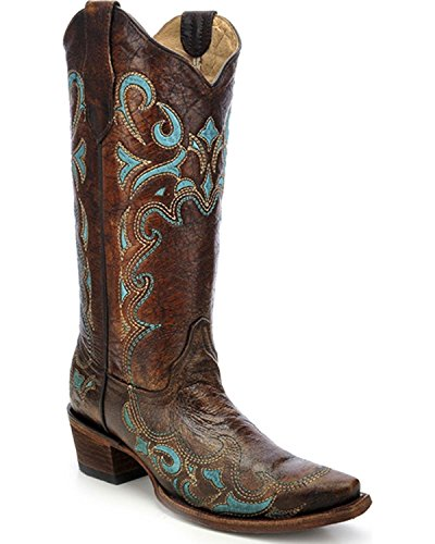 CORRAL Women's Side Embroidery Fashion Boot