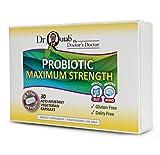 Dr Qutab The Doctor's Doctor, Probiotic Maximum Strength, 100 Billion CFU Probiotic, 30 Acid Resistant Vegetarian Capsules, Gluten & Dairy Free