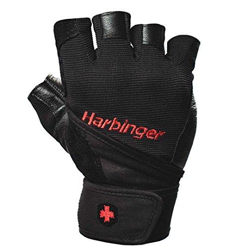 Harbinger (ハービンジャー)プロ トレーニンググローブ(リストラップ付)VENTED PALM ブラック (XL) [並行輸入品]