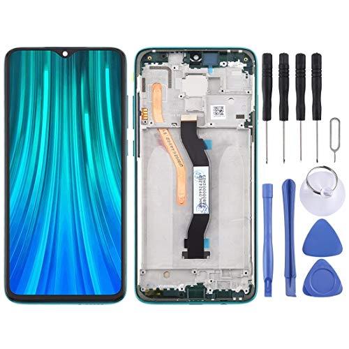 ZHUHAI vervangende display LCD-scherm en Digitizer volledige montage met frame voor Xiaomi Redmi Note 8 Pro (zwart) scherm vervangende kit + volledige reparatie gereedschap, Groen