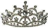 GDLQ Crown de la reina barroca para las mujeres de la novia de la boda de la boda Vintage Crystal Rhinestone Headband Tiara Princess Girls Fiesta de cumpleaños Dama de honor Halloween Disfraz de Navid