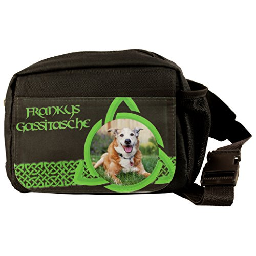 Geschenke 24, hondengassitas, gepersonaliseerde schoudertas met naam en foto