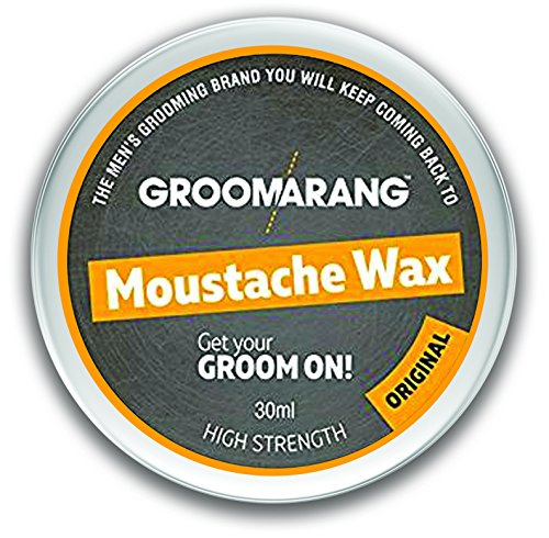 Groomarang Schnurrbart & Bart Wachs Extra stark Original 100% natürliche Haarpflege Bio & Vegan 30ml