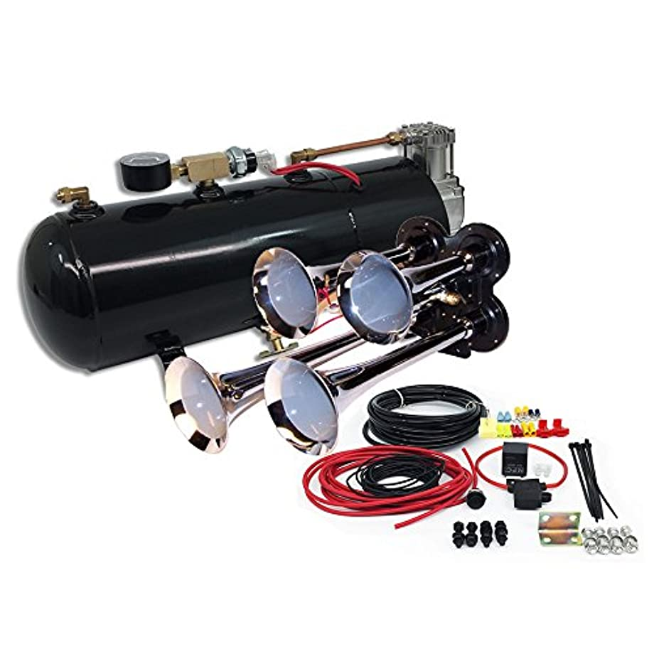 MPC B1 (0419) 4 Trumpet Train Air Horn Kit, Fits Almost Any Vehicle, Truck, Car, Jeep or SUV