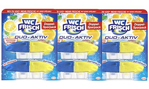 WC-Frisch Duo-Aktiv Mediterrane Zitrone WC-Reiniger und Dutfspüler (3er Pack)