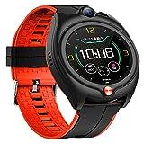HQPCAHL Smart Watch Phone GPS + LBS Tracking Locator, IP67 Reloj de Estudiante para niños a Prueba de Agua con SOS Reloj Despertador de Valla electrónica Chat de Voz Toma de Fotos remota,Rojo