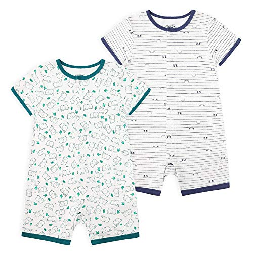 Froerley Baby Boy's 2-Pack Bodysuit de manga corta Baby Rompers pijama de una pieza de algodón Ropa para 0-24 meses