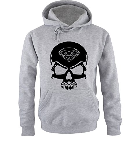 Comedy Shirts - Skull Diamond - hommes capuche - gris/noir taille XXL