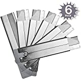 Katzco Carton Cutting Blades - 6 Pack, Retractable Box Cutters - for Warehouses,...