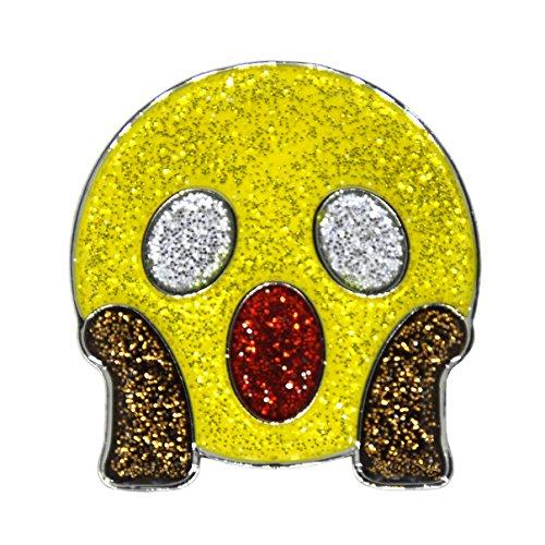 Navika Emoji Wow Glitzy Ball Marker with Magnetic Hat Clip