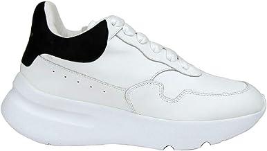 Alexander McQueen Women's White Leather/Suede Sneaker 508291 9061