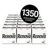 Renova Servilletas BLK | 1.350 Servilletas Premium Blancas | Tamaño Grande | 2 Capas