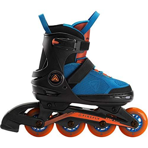 Firefly Jungen Inline Skates-289654 Skates, Black/Blue/ORA, 37