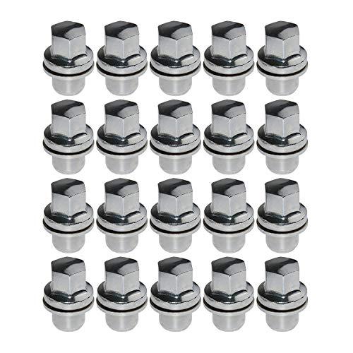 RRD500290A 20 tuercas de rueda compatibles con La-nd Rover LR3 LR4 Ran-ge Rover # RRD500290 RRD500510 LR068126