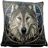 Lisa Parker Wild One pentagrama lobo de lujo Cojín Gótico Ropa de cama now8125
