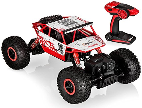 Top Race Remote Control Monster Truck RC Rock Crawler with 2.4Ghz Transmitter, 4WD Off Road Vehicle, TR-130