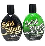 2 Pack - Millennium Tanning Solid Black Special Reserve 200x + Millennium Tanning Solid Black Hypoallergenic Tan Maximizer w Hemp