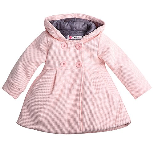 Baby Toddler Girls Fall Winter Trench Coat Wind Hooded Jacket...