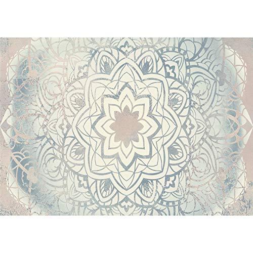 decomonkey | Fototapete Mandala 500x280 cm XXL | Tapete | Wandbild | Wandbild | Bild | Fototapeten | Tapeten | Wandtapete | Wanddeko | Wandtapeten | Muster Modern Orient beige blau