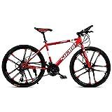 Cacoffay Las Bicicletas De Montaña De 26'De Aleación Ligera De 21 Bicicletas Especializadas Fuerte Freno De Disco De Trama para Adultos